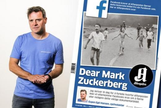 Norveški urednik optužuje Facebook za cenzuru
