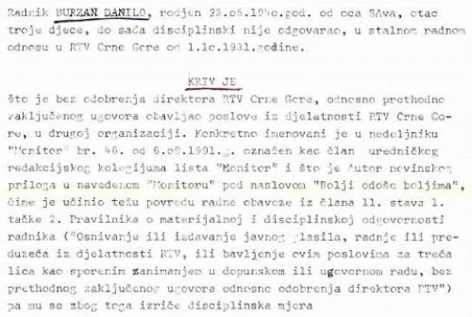 Čistka u RTV Crne Gore (1)