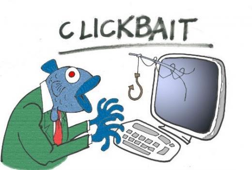 Karikature: Clickbait