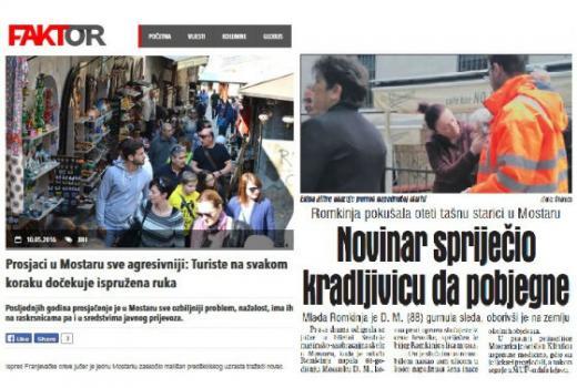 Novinari heroji, drske Romkinje i agresivni prosjaci