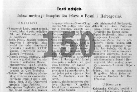 Novine i časopisi iz 1918. godine