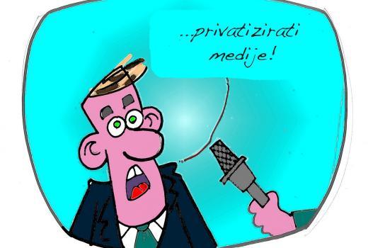 Karikatura: TV montaža