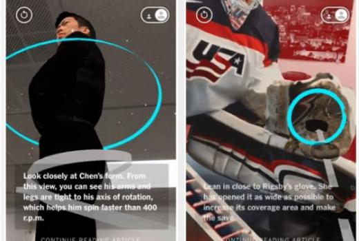 New York Times i Washington Post koriste augmentiranu stvarnost da približe Olimpijske igre čitaocima