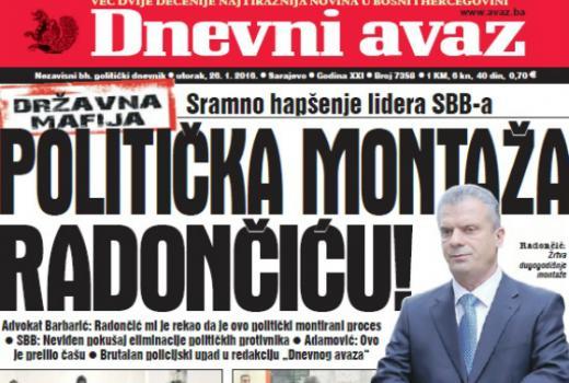Medijska bura o hapšenju Radončića