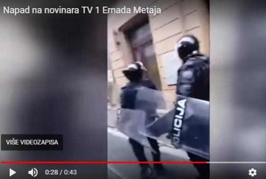 Sarajevo: Policija napala urednika i novinara TV 1