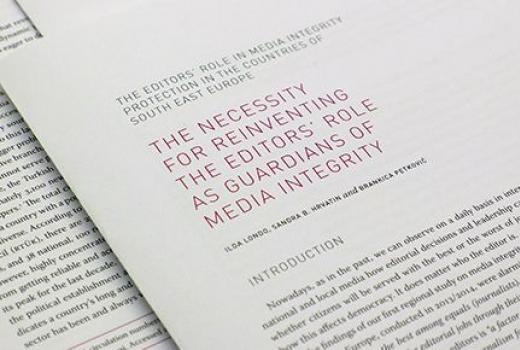 Uloga urednika u zaštiti medijskog integriteta u zemljama jugoistočne Europe