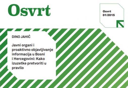 Javni organi i proaktivno objavljivanje informacija u BiH