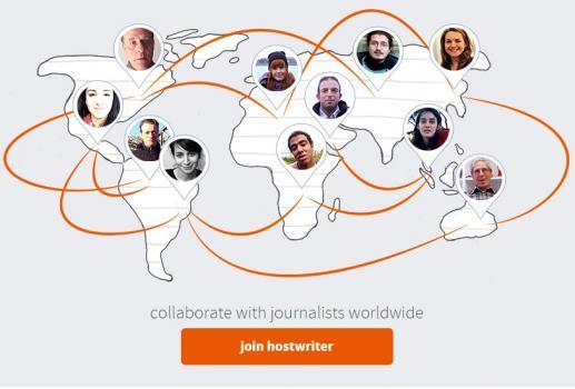 Hostwriters: Novinarska društvena mreža