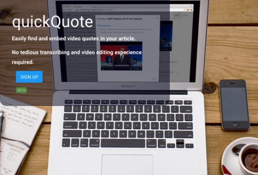 quickQuote aplikacija za lakše bilježenje citata