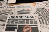 Zatamnjene naslovnice u Australiji u borbi protiv ograničavanja medijskih sloboda
