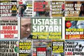 Naslovnice dnevnih novina u Srbiji: Horor, strah, užas, kraj...