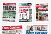 Srebrenica: novinske naslovnice 2010-2014